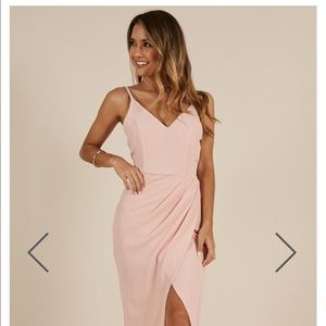 NWT Showpo Blush Maxi Dress